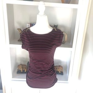 Michael Kors Red Striped T-shirt